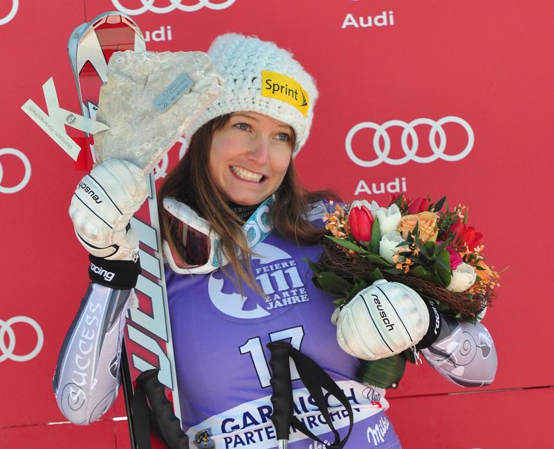 © Christian Einecke (CEPIX) / Mancuso gewann den letzten Super-G in Garmisch-Partenkirchen (GER)
