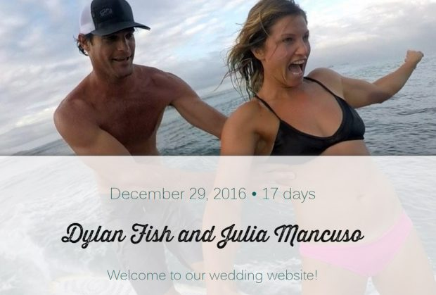 © Dylan Fish and Julia Mancuso - Wedding Website