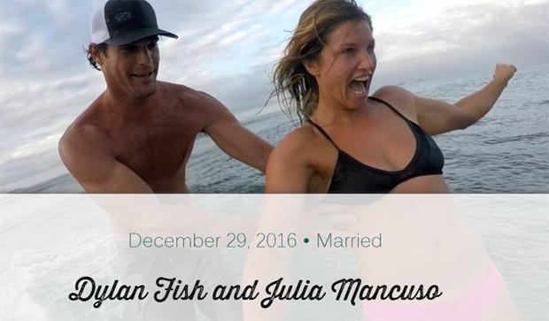 © Dylan Fish and Julia Mancuso - Wedding Website