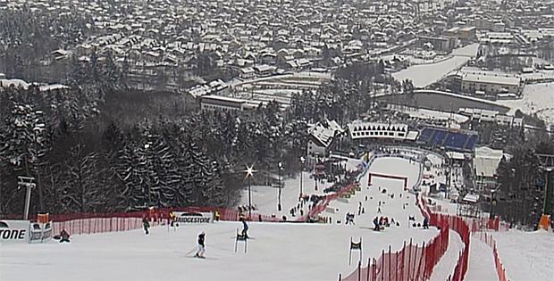 Blick vom Slalomhang auf Maribor