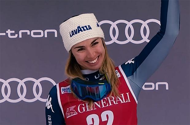 Auch Francesca Marsaglia bereitet sich in Zermatt auf die Ski Weltcup Saison 2020/21 vor.