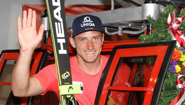 Hahnenkamm NEWS: Matthias Mayer hat seine Gondel übernommen (Foto: Hahnenkamm.com)