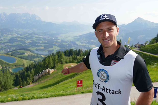 """Matthias Mayer ging mit """"Team HEAD"""" an den Start (Foto: www.Hahnenkamm.com)"""