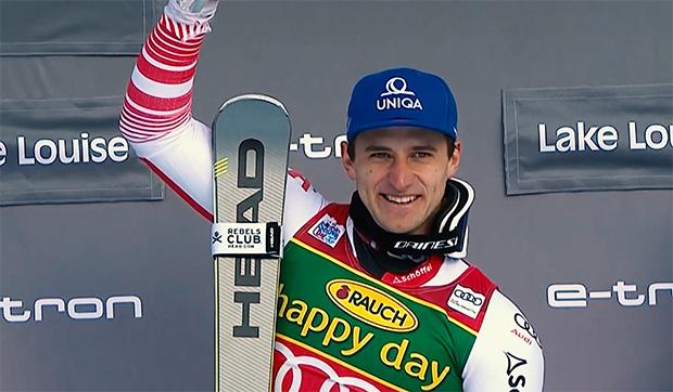 11 Jahre nach Hermann Maier jubelt Matthias Mayer beim Super-G von Lake Louise