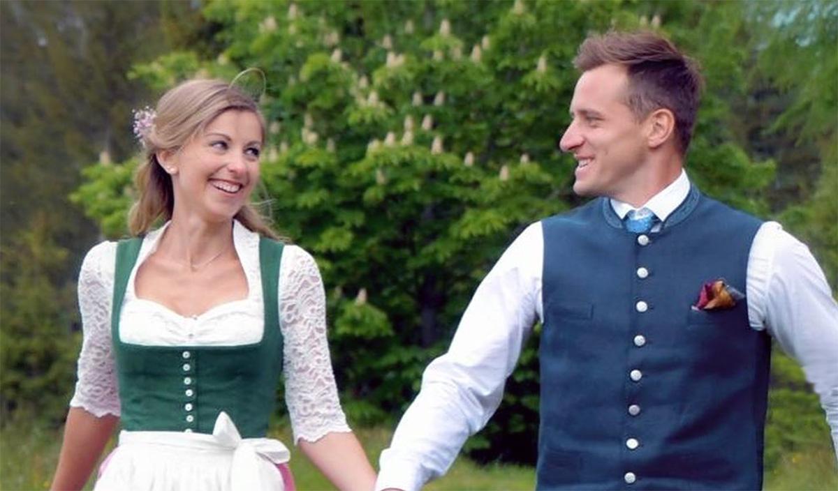 """Claudia und ihr Neo-Ehemann Matthias """"Mothl"""" Mayer (Foto: Matthias Mayer / Instagram)"""