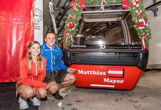 Hahnenkamm News: Matthias Mayer holt sich seine Gondel (Foto: © Hahnenkamm-Rennen Kitzbühel / Facebook)