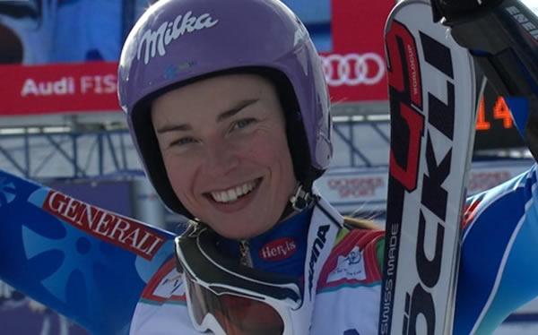 Tina Maze gewinnt Riesenslalom in St. Moritz
