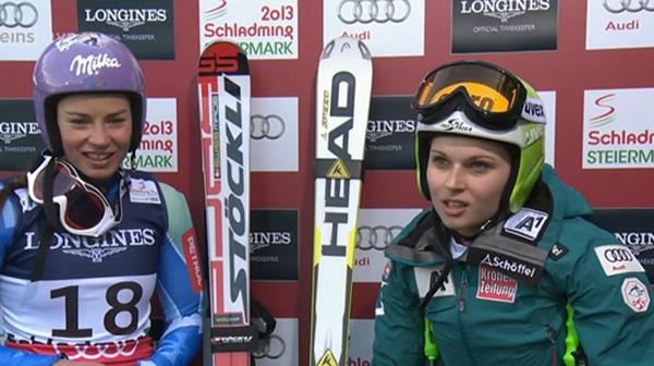 Tina Maze (SLO) und Anna Fenninger (AUT)
