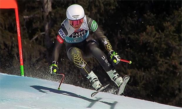 Alice McKennis Duran mit Bestzeit beim 1. Abfahrtstraining in Val d'Isere