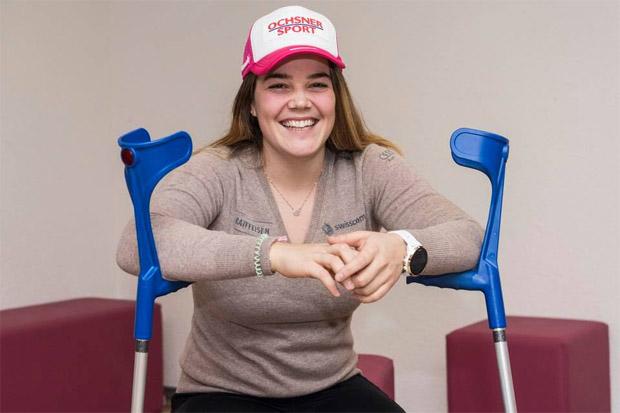"""Melanie Meillard konnte verletzungsbedingt nicht an der Ehrung zum """"Longines Rising Ski Star Award"""" teilnehmen. (Foto: Melanie Meillard / Facebook)"""
