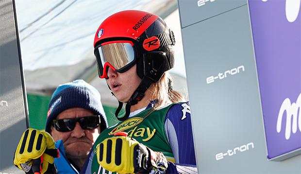 Roberta Melesi freut sich über die ersten Weltcuppunkte und möchte hoch hinaus. (Foto: © Archivio FISI/Gabriele Facciotti/Pentaphoto)