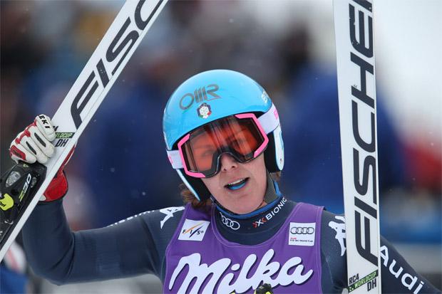"""© Kraft Foods / Nicht nur Daniela Merighetti und Reinfried Herbst sagten dem Skiweltcup """"Servus"""""""
