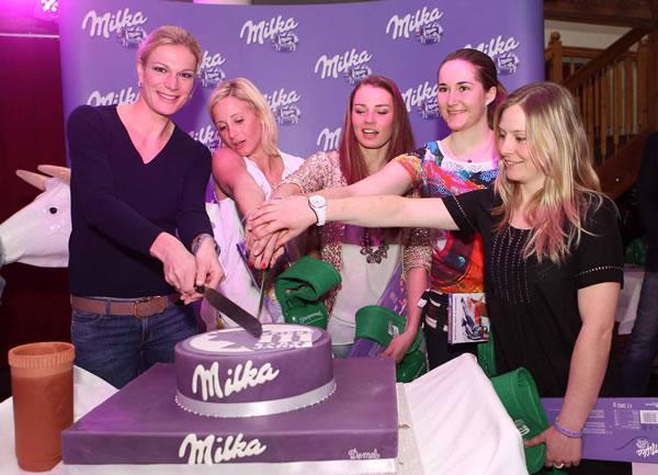 © Kraft Foods / Milka und Michaela Kirchgasser feiern Geburtstag