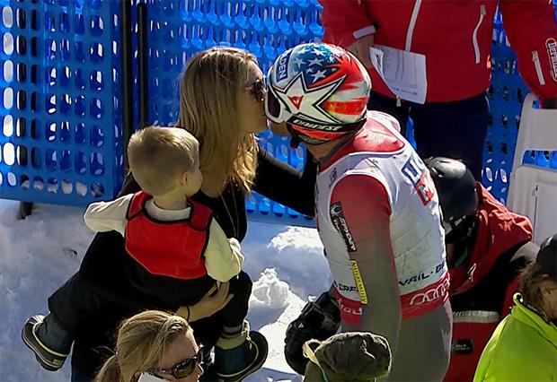 Bode Miller nach seinem Sturz im Super-G bei der Ski-Weltmeisterschaften in Vail/Beaver Creek.