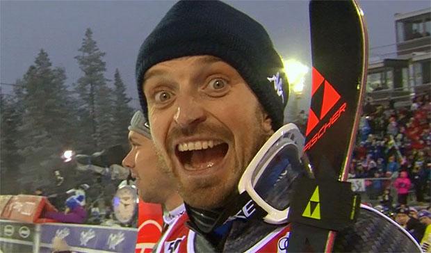 Manfred Mölgg strahlt in Levi über Platz drei im Slalom