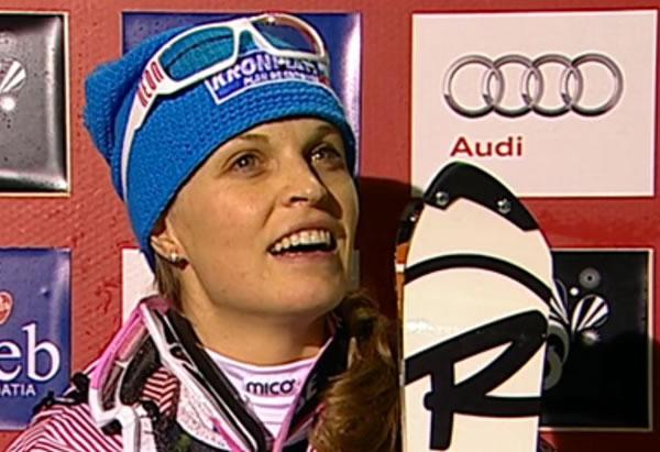 Manuela Mölgg wartete in Zagreb mit einer starken Leistung auf