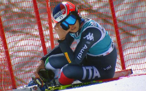 Manuela Mölgg schied im Riesentorlauf aus