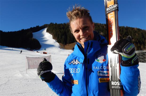 """Manuela Mölgg würde sich über ein Heimrennen auf der """"ERTA"""" freuen. (Foto: skiworldcup-kronplatz.com)"""