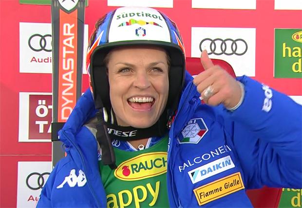 Halbzeitführung für Manuela Mölgg beim Riesenslalom in Sölden
