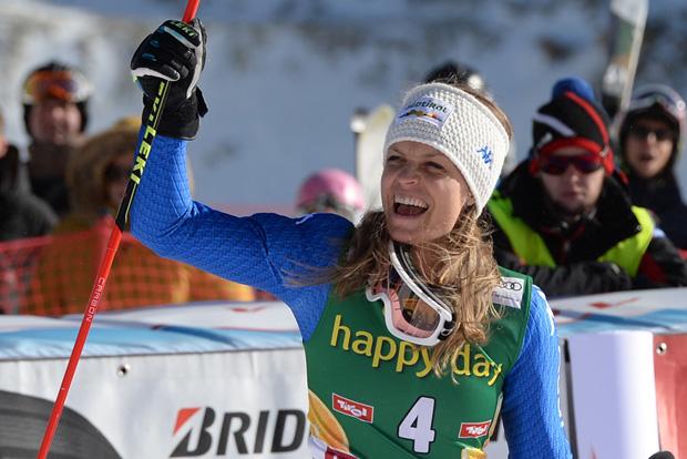 © Ch. Einecke (CEPIX) /  Manuela Mölgg freut sich über Platz drei