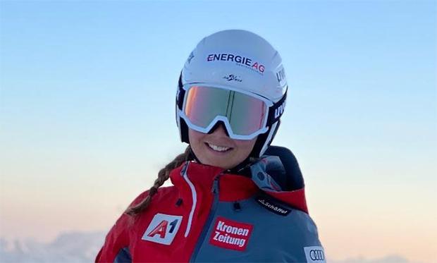 Elisa Mörzinger möchte im Riesenslalom,  bis zum Ende der Saison 2020/21, eine Startnummer innerhalb der Top-30 (Foto: © ÖSV)