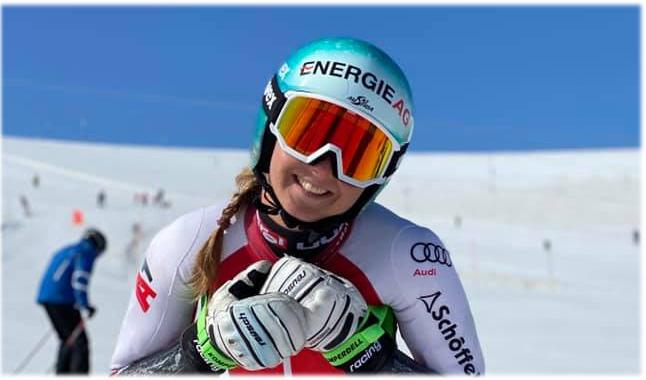 """Elisa Mörzinger im Skiweltcup.TV-Interview: """"Man lernt jeden Tag dazu!"""" (Foto: © Elisa Mörzinger / Facebook)"""
