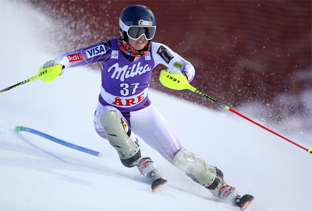 © Kraft Foods / Paula Moltzan führt bei der Junioren-WM souverän zur Halbzeit des Slaloms