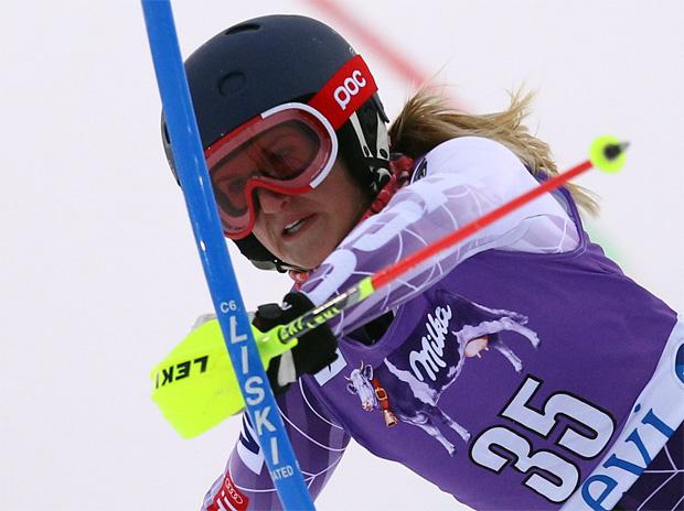 © Kraft Foods / Sieg für US-Girl Paula Moltzan beim Junioren-WM-Slalom Gold vor Schmotz und Truppe