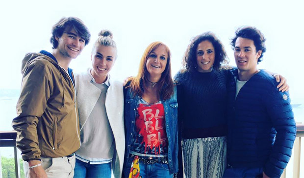 Francesca Marsaglia, Fede Brignone und Alexandra Coletti machten einen Boxenstopp in Monaco (Foto: Fede Brignone / Facebook)