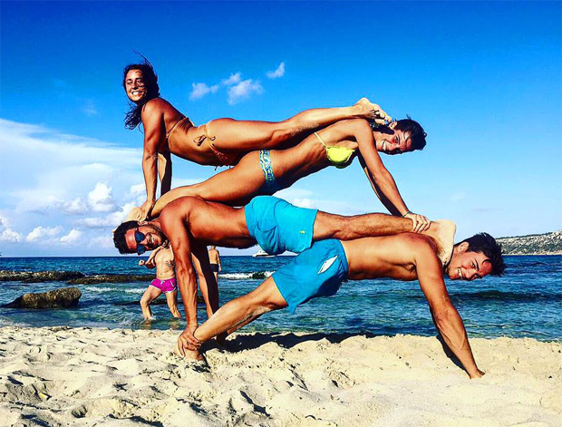 Auch am Strand kam das Training nicht zu kurz. (Foto: Roberto Nani / Facebook)
