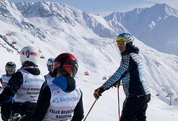 Vom 28. bis zum 30. April trainierten die jeweils besten deutschen Schülerinnen und Schüler sowie die beste Schülermannschaft der zurückliegenden Wettkampfsaison im österreichischen Ötztal mit Skistar Felix Neureuther. In diesem Jahr waren insgesamt sieben Mädchen und acht Buben am Start. (Foto: DeutscherSkiverband.de)