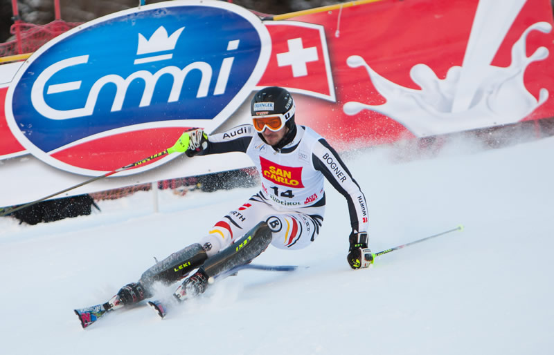 © PHOTOPRESS / Johann Groder:  Felix Neureuther ist beim Slalom in Alta Badia aufs Podest gefahren.