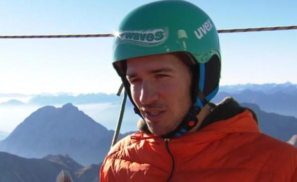 """Felix Neureuther: """"Slackline"""" auf der Zugspitze"""