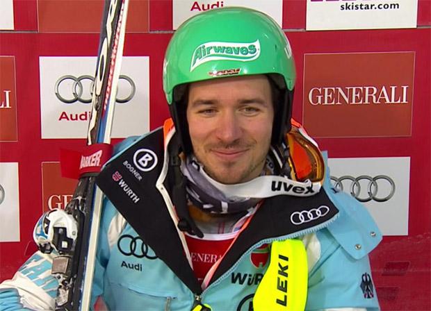 Felix Neureuther liegt beim Slalom in Are in Führung