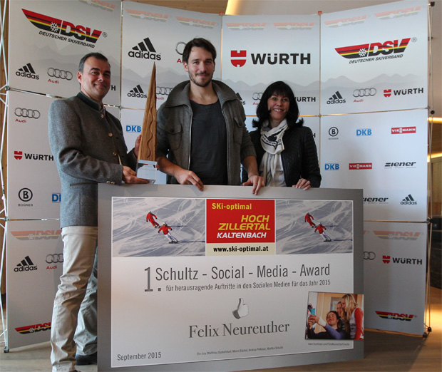 Felix Neureuther gewinnt Schultz-Social-Media-Award