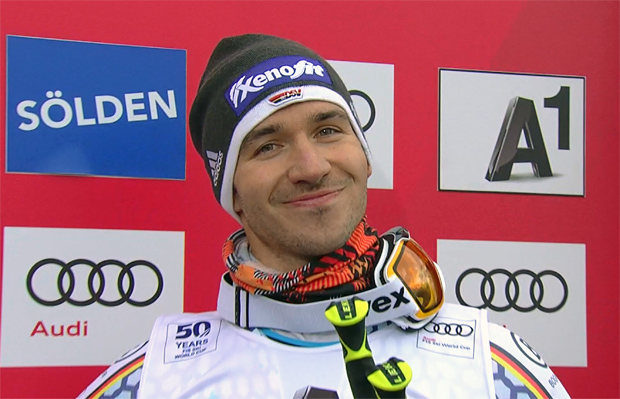 Felix Neureuther ist über seinen dritten Platz mehr als glücklich