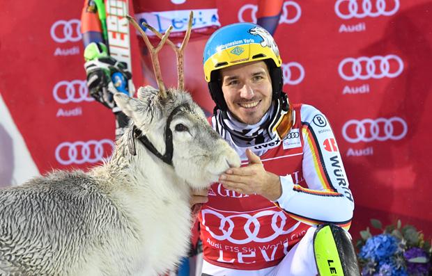 Seinen letzten Skiweltcup-Sieg feierte Felix Neureuther am 12.11.2017 beim Slalom von Levi (Foto: Audi Sports Communications)