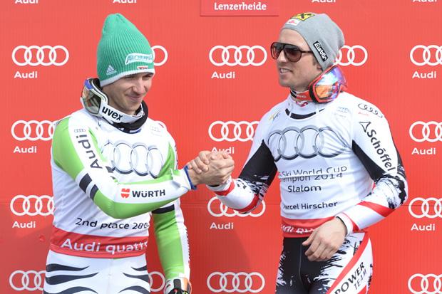 © Ch. Einecke (CEPIX) / Felix Neureuther und Marcel Hirscher - Wer holt sich in dieser Saison die Slalom-Weltcupkugel?