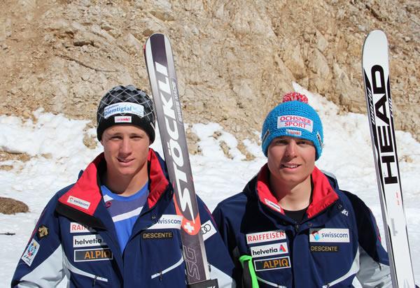 Schweizer Doppelsieg: Nils Mani (links) und Ralph Weber