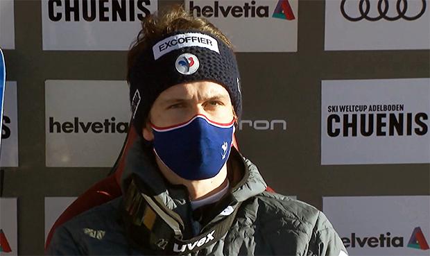 Clement Noel übernimmt Führung nach dem 1. Slalom-Durchgang in Adelboden