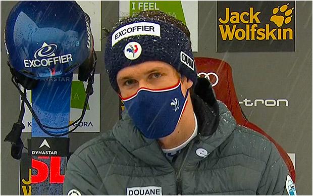 Clement Noel übernimmt Führung beim Slalom von Kranjska Gora