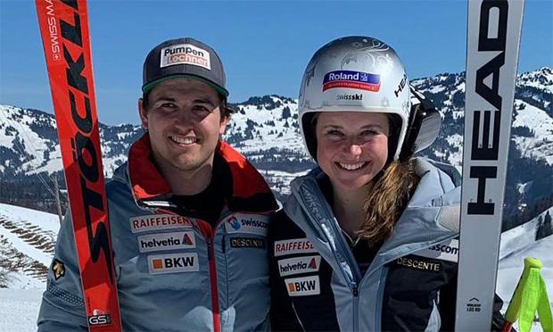 Holten auf dem Stoos Gold in der Abfahrt: Urs Kryenbühl und Corinne Suter (Foto: Swiss-Ski.ch)