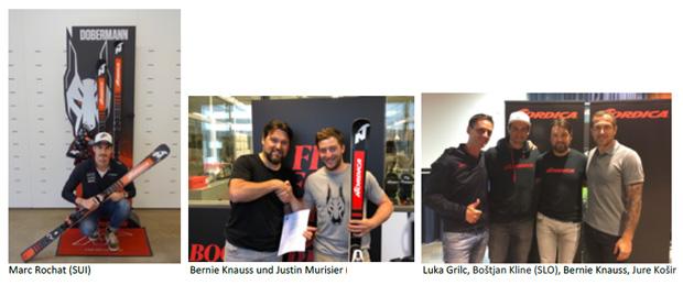 © NORDICA / Marc Rochat (SUI), Justin Murisier (SUI) und Boštjan Kline (SLO) wechseln zu NORDICA