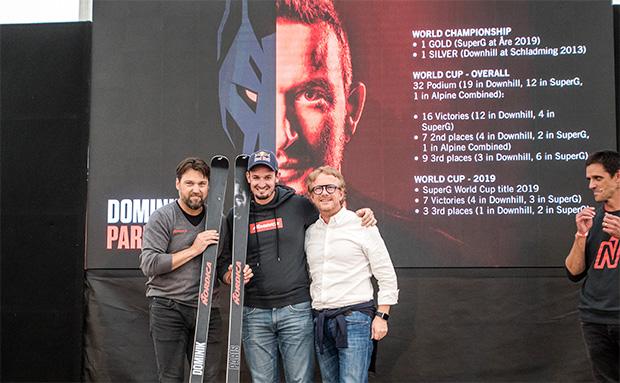 Bernie Knauss, Dominik Paris, Alberto Zanatta, Luka Grilc (©NORDICA / Simon Rainer)