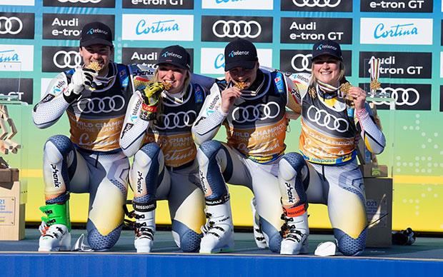 Ski WM 2021: Cool, ruhig und gelassen. So führte Foss-Solevaag Norwegen zum ersten Mannschaftsgold (Foto: © Fondazione Cortina 2021/ Pentaphoto)