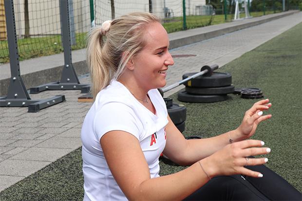 """Vanessa Nußbaumer: """"Wenn es einmal nicht steil nach oben geht, immer weiter mache. In solchen Situationen gebe ich mich mit kleineren Erfolgserlebnissen zufrieden."""" (Foto: © Olympiazentrum Vorarlberg)"""