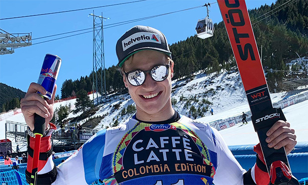 Marco Odermatt - Platz 2 beim Riesenslalom-Weltcupfinale in Soldeu (© Marco Odermatt / privat)