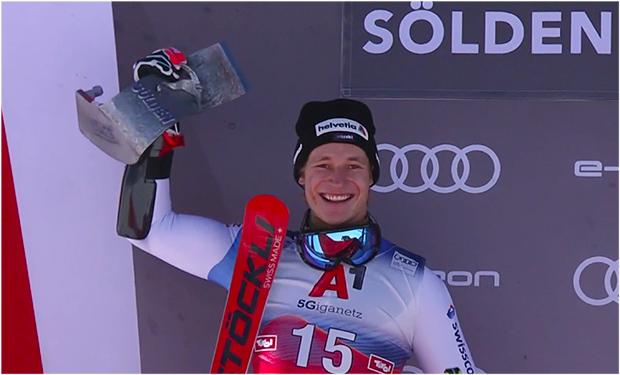 Marco Odermatt konnte sich im Vorjahr beim Saisonauftakt über Platz 2 freuen.