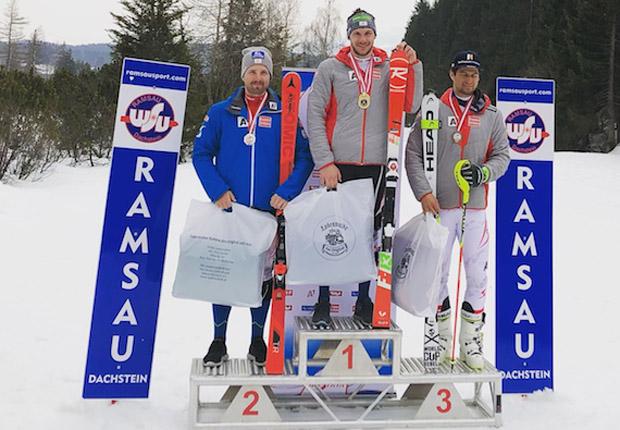 Österreichische Slalom-Meisterschaft 2018: Marco Schwarz, Michael Matt, Johannes Strolz (Foto: ÖSV)