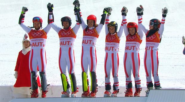 Bei der Olympia-Premiere gleich eine Medaille für Österreich.